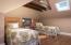 Hardwood floors and skylight