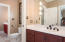 Separate Water closet and tiled bath/shower