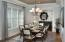 Well appointed Dining Rm with niche and ceiling detail