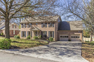 Brick traditional with Gunite Pool on Fox Den's 14th hole. Private, short cul-de-sac is perfect for children.