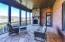 Screened Porch with Wood Burning Fireplace