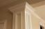 Example of exquisite interior trim package in a finished Cottage