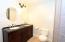 High counters , granite and dual vanities