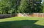 BACK YARD IS FLAT, FENCED AND PERFECT