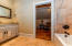 Second Floor Bath with Custom Cabinets, Granite Tops and Tile Shower
