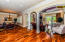 Main Level of Home with Tobacco Road Hand Scraped Teak Floors Throughout