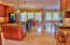 Large Kitchen with Travertine floors
