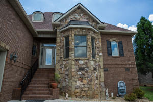 Beautiful stone work on front of home