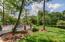 Oversized deck opens to huge backyard