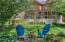 Sitting area in backyard to enjoy the scenery