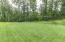 Spacious Back Yard with Mature trees has an invisible dog fence