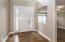 Open Foyer has hardwood floor