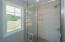 Walk-in tiled shower