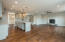 "Open floor plan with 5"" hand-scraped hardwood floors thru out main"
