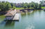 Covered Dock with 12,000# Lift, Two Drive-on Jet Ski Lifts, & Touchless Boat Cover & Year-Round Water!