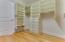 Master Walk-in Closet | Custom Built-In Shelves and Drawers
