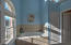 Beautiful master bath with amazing ceilings here too.