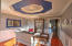 Dramatic and stylish formal dining room