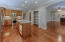 Kitchen opens to great room; generous pantry with easy access