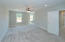 Spacious master retreat! Great natural lighting, stylish ceiling fan, and can lights
