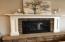 Beautiful stacked stone gas fireplace