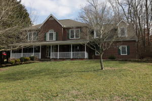 2 story brick front home