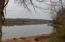 Looking up river Watts Bar Lake near access point to cove going to property. Winter pool.
