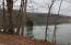 Looking down river Watts Bar Lake near access point to cove going to property. Winter pool.