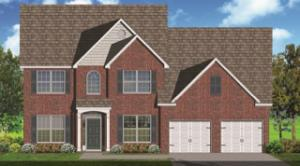 The actual home will have an extended front porch.