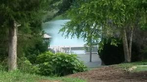 View of lake across street