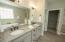 Double vanity with granite countertops