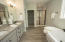 Soaking tub and walk in tiled shower