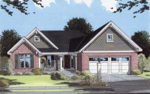 Rendering - Reverse Elevation - Brick and Stone Front, Vinyl Sided and Back