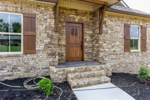 Stack stone in entry way