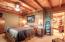Master Bedroom, beautiful Oak Wormwood Accent Wall