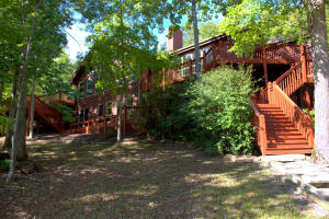 Fabulous Lake Home on the Point with Breathtaking Views & Just the Right Touch of Shade Trees!