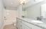 Double sinks w/granite countertops