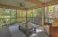 This enclosed screened porch lets you enjoy all four of East Tennessee's temperate seasons in style.