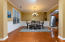 A good sized formal dining room is perfect for all group sizes.