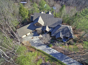 Nestled in the mountains for a serene retreat! Aerial Front