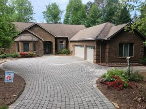 Paver driveway to front of home with 3 car garage--more pics by professional coming than what shown