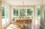 New Tempered Floor-to- Ceiling Windows in Breakfast Nook Overlooks Beautiful, Flat Backyard
