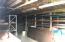 Storage or workshop area in crawl space