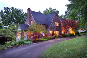 Private circular driveway leads to meticulously restored historic home in Sequoyah Hills