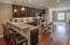 Offers a gathering place for entertaining or casual dining