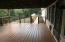 Covered side deck.