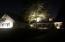 Illuminated night view from driveway