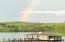 The rainbow from the dock is spectacular.