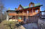 Front view of this well maintained upscale mountain cabin.