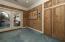 Whitewashed Knotty Pine Den/Office